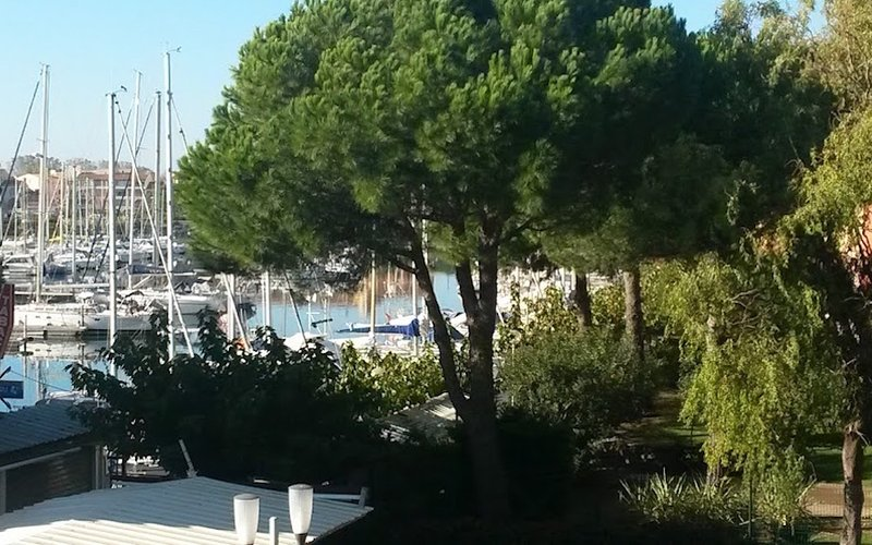 Nice Studio with balcony overlooking the marina