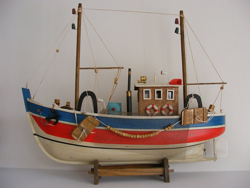 Beautiful fishing boat scale - are typical of Valparaiso