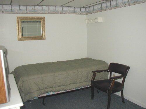 Bedroom 2 downstairs; 1 queen & 1 twin