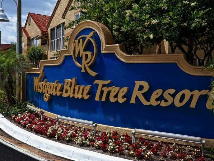 Westgate Blue Tree Resort Welcome Sign