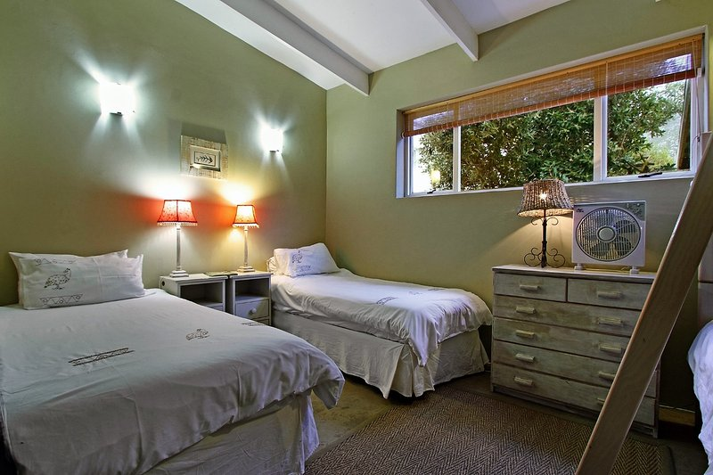 Children's room showing single beds