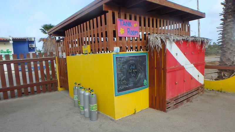 Dive Shop no Resort com instalações de barco de mergulho