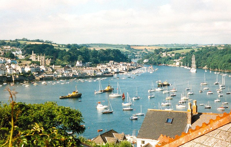 Polruan on the Fowey Estuary, South Cornwall