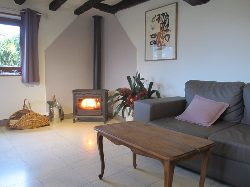 warm atmosphere with the wood stove