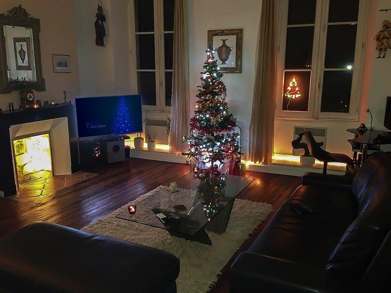 Salon dans le temps de Noël ..