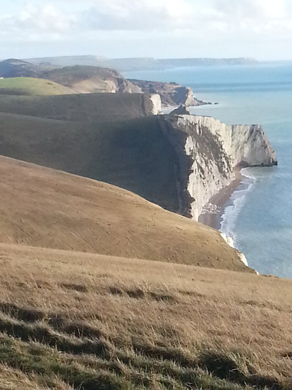 The view from  Coast Path... just one hour's walk from the Cottage