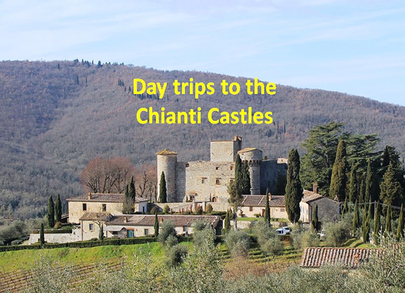 Trips by car to the many castles of Chianti