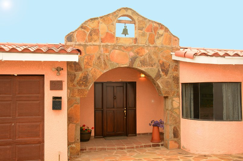 Mission style entrance to your beautiful vacation getaway