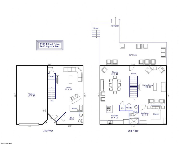 Floor Plan 1st & 2nd Floors