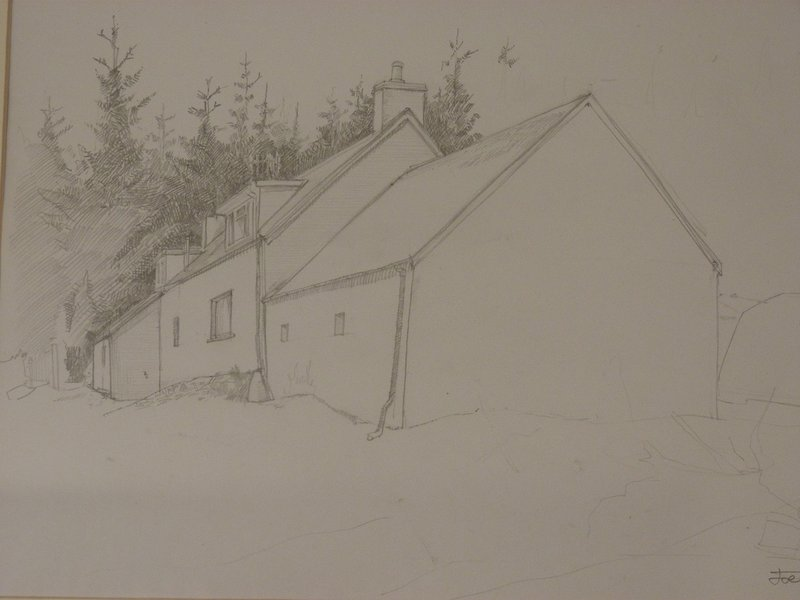 A sketch of the house from behind by a visiting artist.