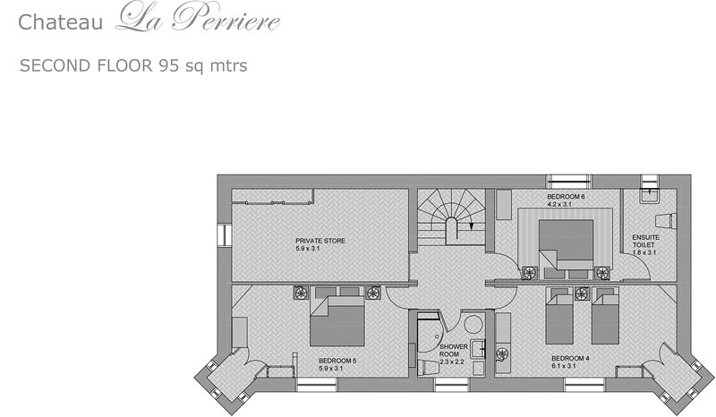 Chateau La Perriere Second Floor Plan