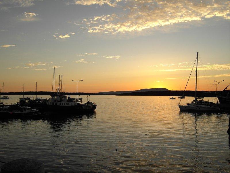 Baltimore Harbor at Sundown