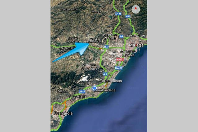 15 to 20 minutes from Malaga and beaches