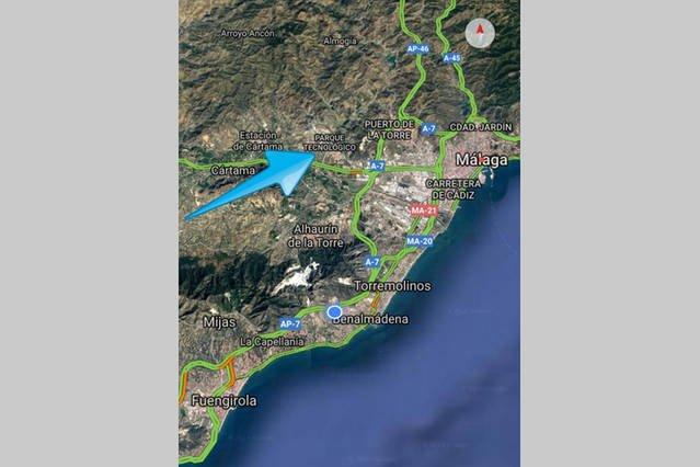 De 15 a 20 minutos del centro de Málaga y playas