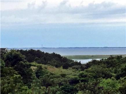 bela vista da baía de plataforma em Truro