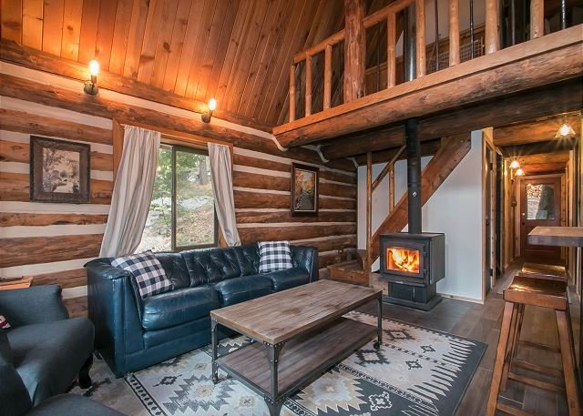 Cozy wood-stove for those snow laden days