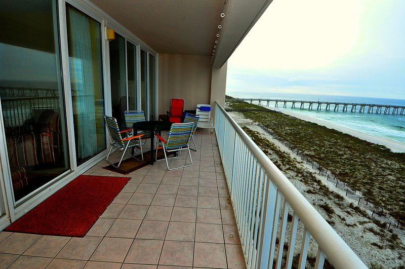 Enjoy the amazing Gulf views from the comfort of the balcony
