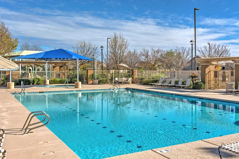 Book an unforgettable trip to this 3-bed, 3-bath home with community amenities.
