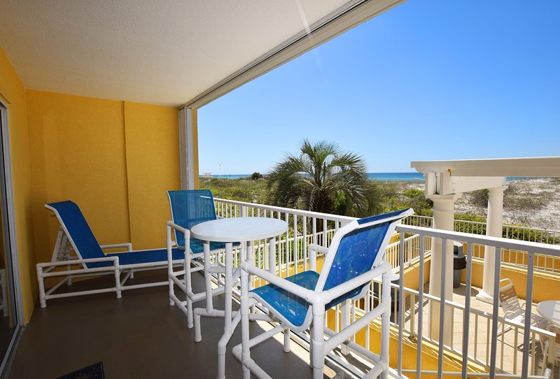 Balcony -  Gulf Dunes 114 Fort Walton Beach Florida Okaloosa Island