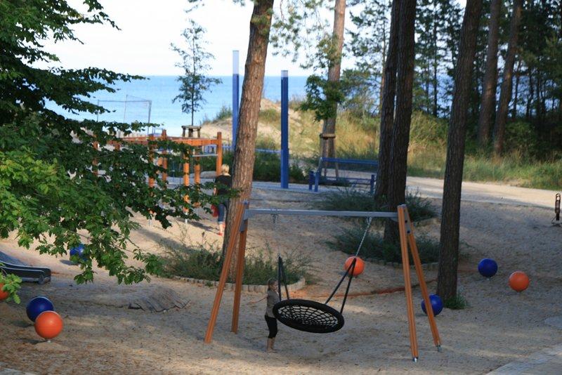 Playground near the beach