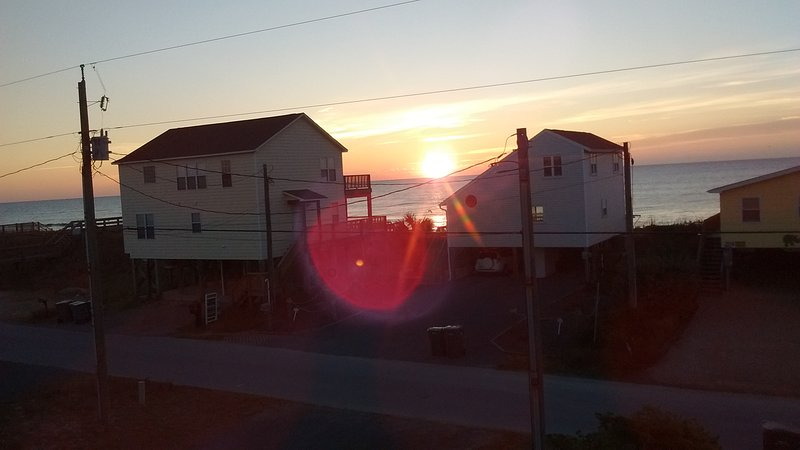sunrise from front deck