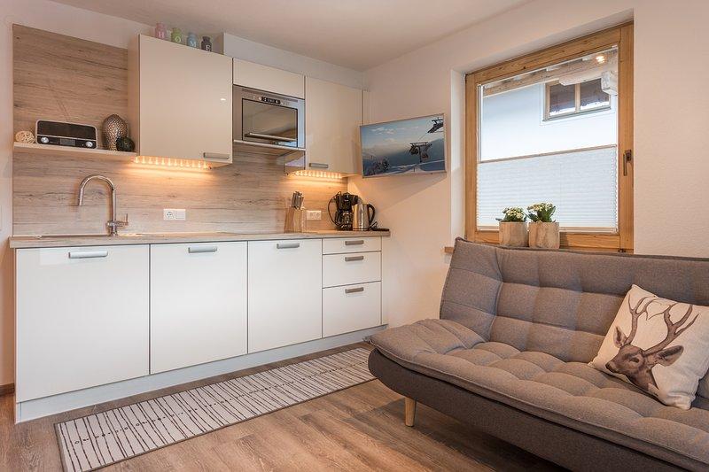 BelEtage II Living and kitchen Area