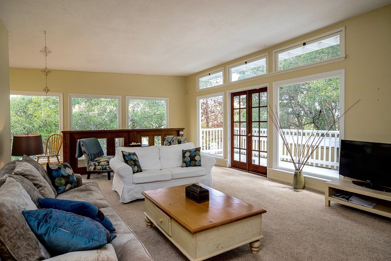 Bright and open living room space