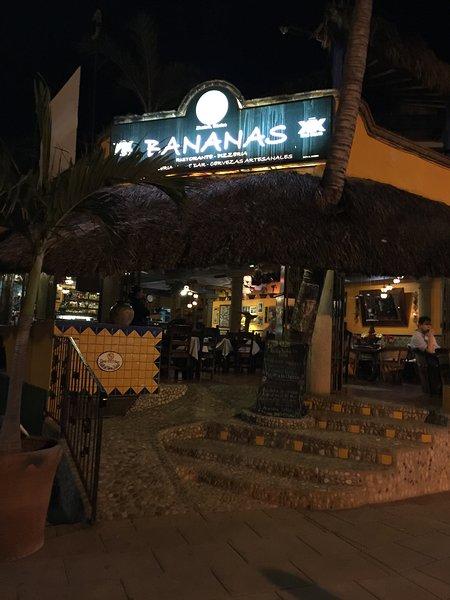 Banana's restaurant is the landmark to your stay at Casa la Joya