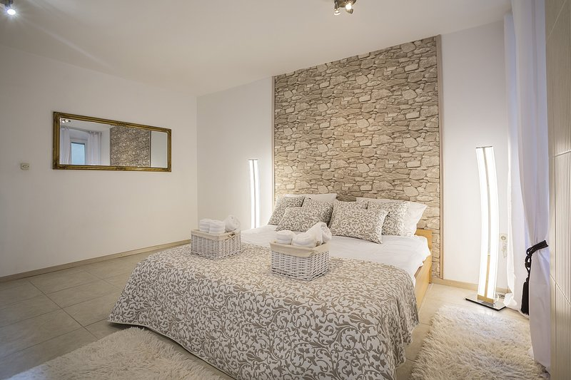 Modern Bright Bedroom with Double Bed