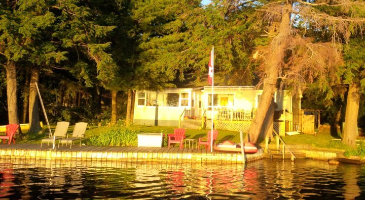 Lake-side of the cottage- Sunset