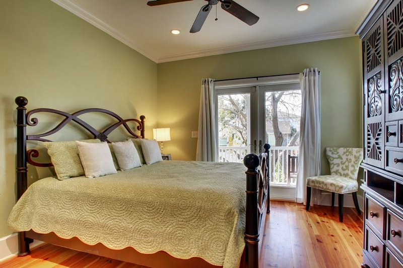 Guest King Bedroom with Deck!
