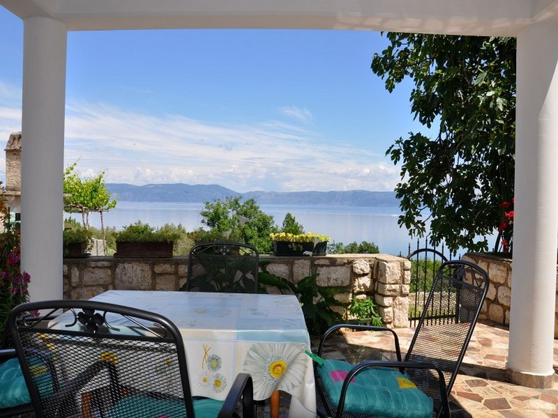 Nice, big terrace with a view 23, holiday rental in Labin