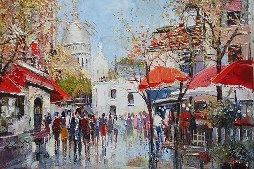Montmartre only in 50 minutes by train RER A plus Metro