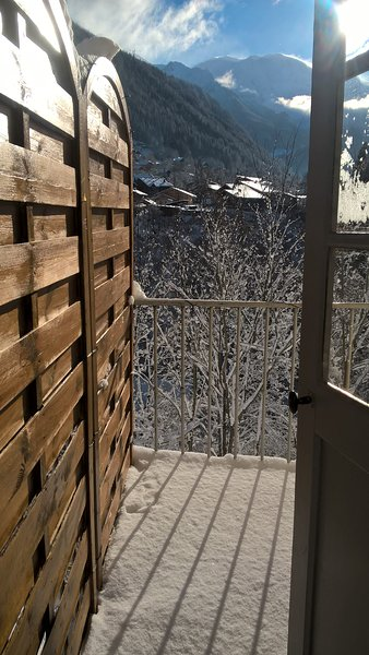Balcony snowy, view of the Mont Blanc range