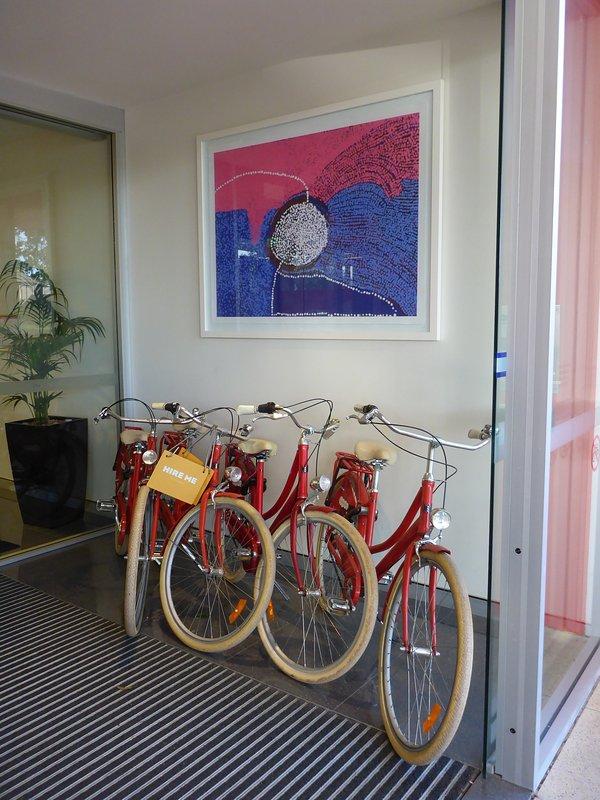 Gratis fietsen voor de gasten gebruik