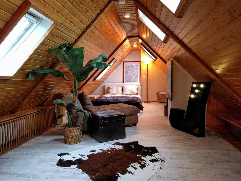 ★Private room in central luxury condo!★, alquiler de vacaciones en Wolfstein
