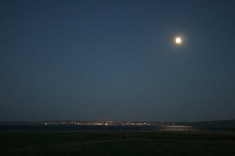 Kirkwall lights from cottage