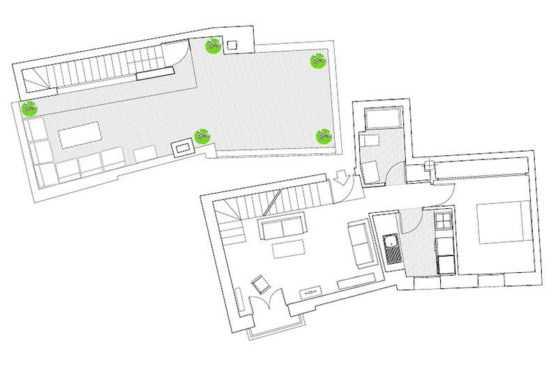 60m² + 40m² terrasse | deuxième étage | ascenseur