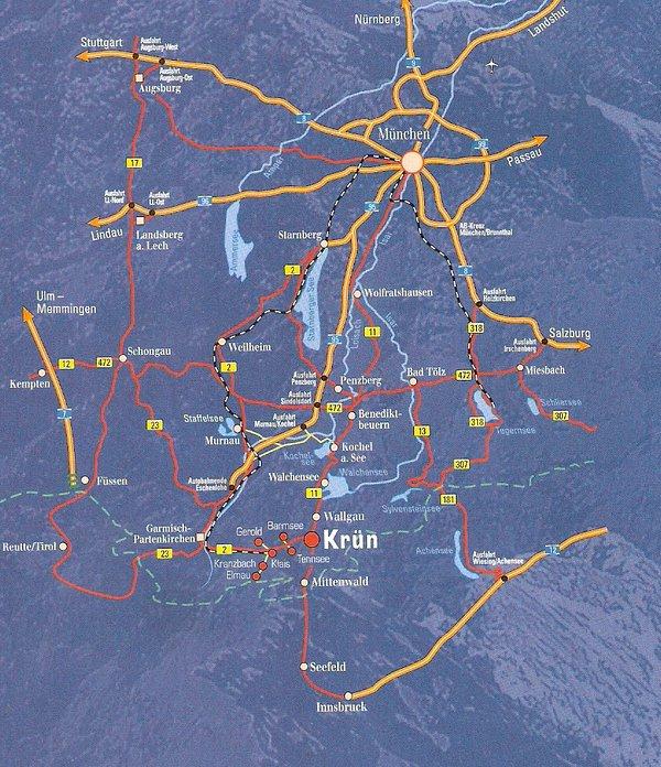 Directions to Krün