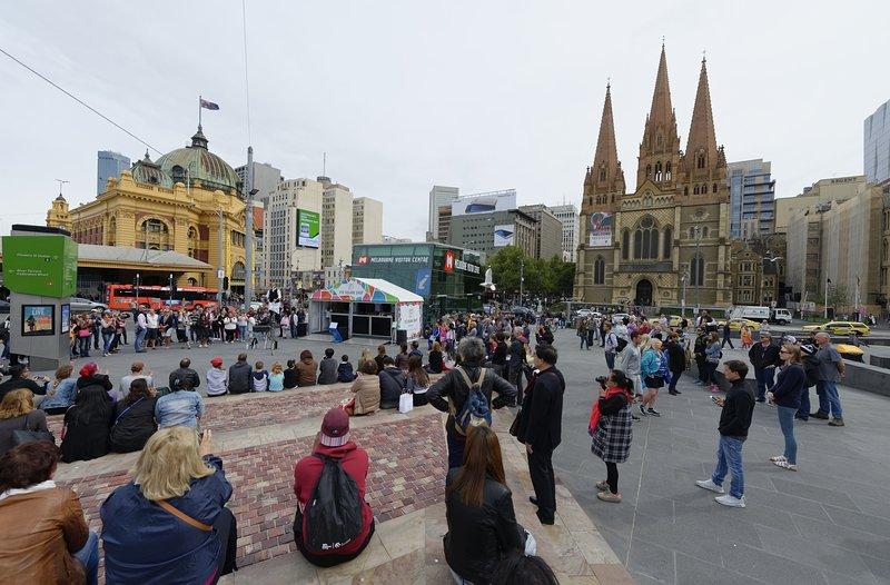 Federation Square (2 min à pied du site)