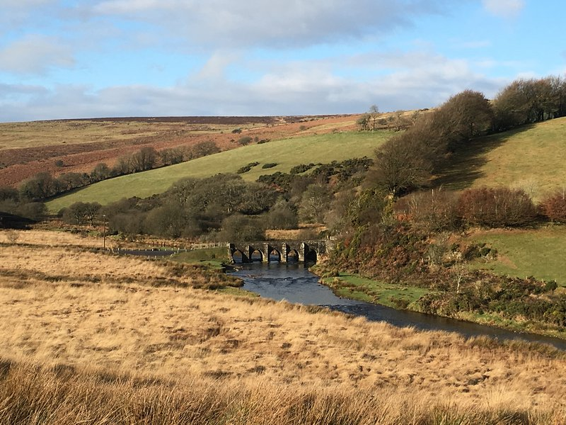 View to Landacre Bridge