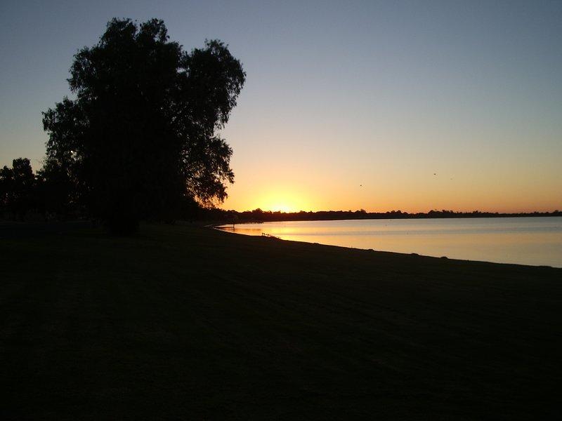 Sunset on Lake Bonney