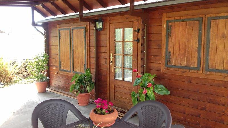 Cabaña de madera.