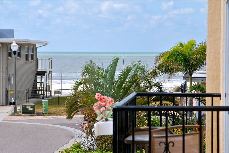View of the Gulf from the Main House balcony.