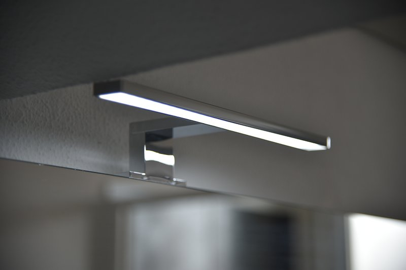 Led light in the bathroom area