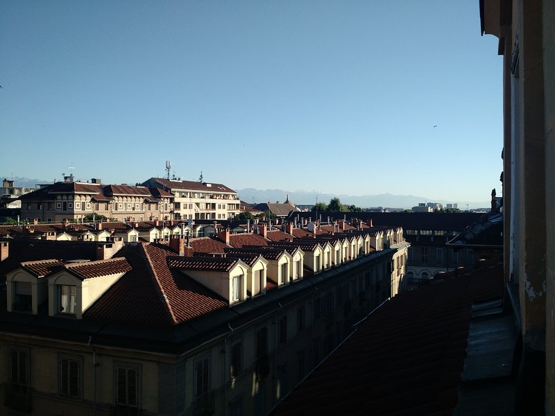 The view of the roofs of Turin ...