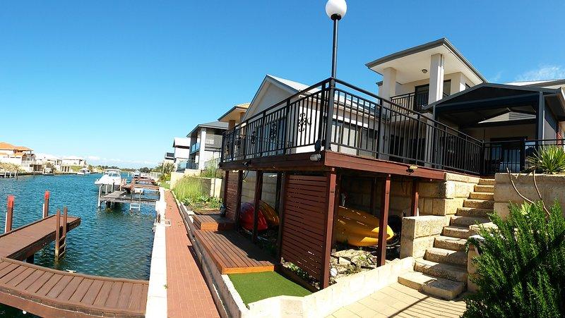 Canal side and verandah