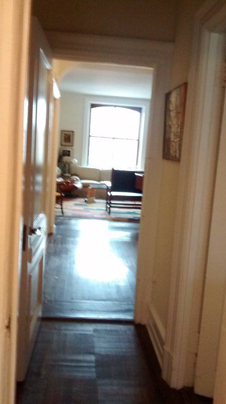 View into living room from hall adjoining bedrooms