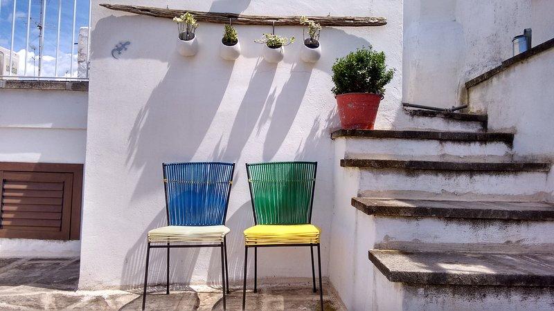 Estos son los colores de la primavera en mi terraza