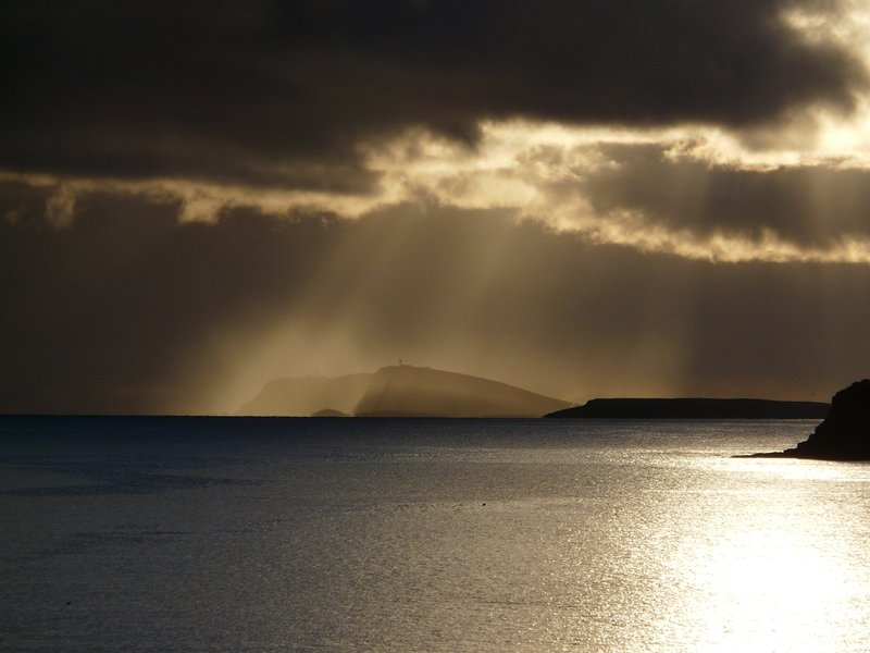 Winter visual drama over Sumburgh Head